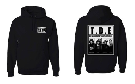 7ba2cd47596 Kendrick Lamar was seen in a Black Hippy Crew pullover hoodie ($50 ...